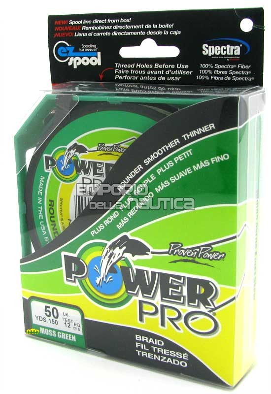 PowerPro 300yds 50Lb Moss Green MADE IN USA PowerPro 300yds 50Lb Moss Green MADE IN USA