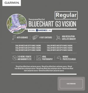 Cartografia Bluechart G3 Vision HD REGULAR